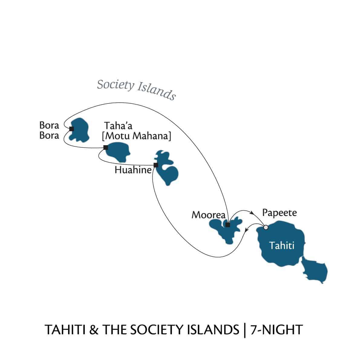 Tahiti & the Society Islands 7–night Cruise